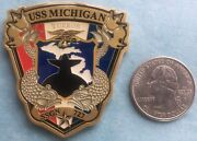 Us Navy Challenge Coin - Uss Michigan Ssgn-727 Chief Mess Cpo