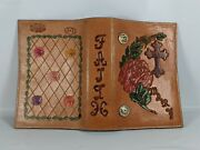 Custom One Of Kind Genuine Leather Bible Book Cover With Gold Plated Conchos