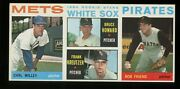 1964 Topps Rare Salesman Sample Willey/white Sox Rc/friend And Mickey Mantle Back