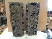 1971 Ford 351c Cleveland 4v Open Chamber Cylinder Heads, .185 And 186 ,pair