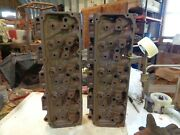 1973 Ford 351c Cleveland 4v Open Chamber Cylinder Heads, .187 And 188 ,pair