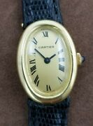 Vintage Baignoire 18k Yellow Gold Watch 7743 Manual Wind