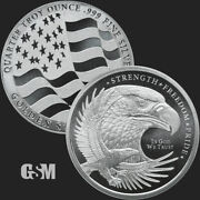 10 - 1/4 Oz .999 Silver Rounds - Gms Silver Eagle - Brilliant Uncirculated - New