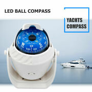 Led Light Marine Compass With Mount For Sail Ship Vehicle Car Boat Navigation Us