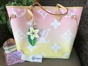 Brand New Louis Vuitton Neverfull Mm Pink By The Pool Shoulder Bag Tote Nwt