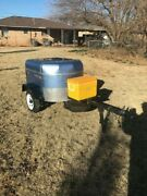 Motorcycle Cargo Trailer Blue Utility Camping Trike Used Custom Unique