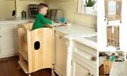 Wooden Kitchen Tower Step Stool Helper For Kids And Toddlers - Stand W 3