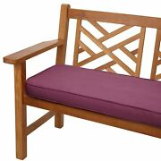 Purple Orchid Corded Indoor/ Outdoor Bench Cushion With