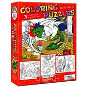 Cobble Hill 3 X 24 Piece Colouring In Jigsaw Puzzles - Dragons