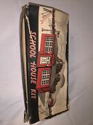 Plasticville School House Kit Sc-4 Includes Flag As On Box And Original Box