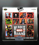 Marvel Heroes And Villains Sealed Hobby Box 1 Sketch In Avery Box