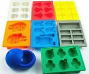Diy Silicone Ice Maker Cube Tray Mold Cocktail Whiskey Chocolate Bomb Star Wars