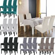 Xl Dining Chair Covers Spandex High Back Chair Protector Covers Seat Slipcover