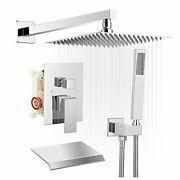 Shower System Faucet Waterfall Tub Complete With Spout Set 12 Inch Chrome