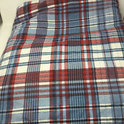 Westpoint Home Red Blue Plaid Reversible Comforter King Size 100 X 86