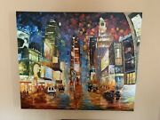 Rare 2007 Signed Daniel Davidson Time Square Painting Danieland039s Gallery
