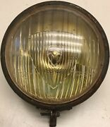 French Military Marchal Equilux Yellow Fog Light 6andrdquo Diameter 24v Works