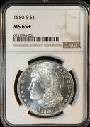 1880-s Morgan Dollar == Ms-65+ Ngc ==reflective Obverse Fields == Free Shipping