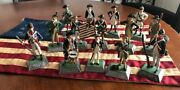 Vintage Revolutionary War Die Cast Figurines Of The 13 Colonies And More