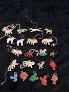 Vintage Plastic Charms - Animals And Disney - Lot Of 21