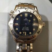 Omega Seamaster300 2562.80 Navy Dial Quartz Boyand039s Menand039s Watch From Jp