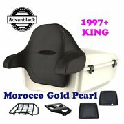 Morocco Gold Pearl King Tour Pack Black Hinge And Latch For 97-21 Harley Electra