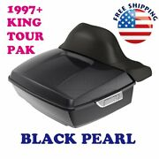 Black Pearl King Tour Pack Pak For 1997-2021 Harley Street Road Electra Ultra