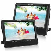 10and039and039 Car Dual Portable Dvd Players 1024x800 Hd Lcd Tft Usb/sd/mmc 10 Inch