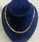 Fine Fancy Necklace 750 18ct Yellow Gold - Length 17in 43cm - 21.7 Grams