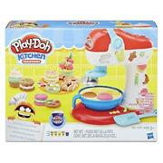 Play-doh Kitchen Creations Spinning Treats Mixer Toy Includes 6 Cans Of Compoun
