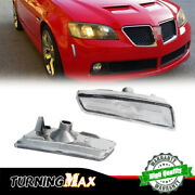 Front Bumper Markers Clear Lights Set Left + Right For 08 09 Pontiac G8 Gt Gxp