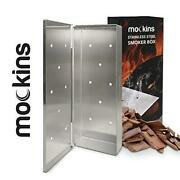 Mockins Stainless Steel Bbq Smoker Box For Grilling Barbecue Wood Chips On Gas