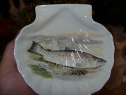 Portmeirion Compleat Angler V.rare Great Lake Trout Shell-shaped Dish Vgc+