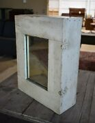 Antique Shabby White Wall Medicine Cabinet, Cupboard With Mirror