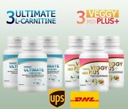 3x Yanhee Ultimate L-carnitine+3x Yanhee Veggy Mix Plus Weight Loss Detox Cleans