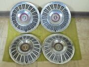 1967 Ford Hub Caps 15 Set Of 4 Wheel Covers Hubcaps 67