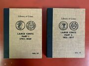 Vintage Library Coins Large Cent Set Part 1and2 Albums 1793-1857