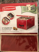 Rubbermaid Ornament Storage 10andrdquo Collapsible Cube - New In Package