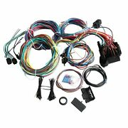 21 Circuit Wiring Harness 17fuses For Chevy Mopar Ford Jeep Hotrods