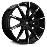 Lexani Css-15 With Covered Lugs Wheels 20x9 25 5x112 Black Rims Set Of 4