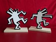 Keith Haring - Dancing Dogs Book Ends / Decorational Statue New