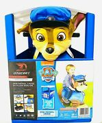 Paw Patrol 6v Plush Ride On With Pup House - Chase - Brand New