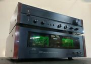 Denon Poa 1500 Stereo Power Amplifier And Pra-1000 Control Amplifiers. Serviced