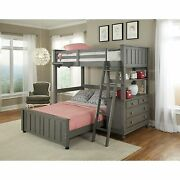 Lake House Stone Full Loft Bunk Bed With Full Lower Bed Stone Full