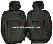 2015-2020 Ford F-150 Xlt Stx Roadwire Leather Seat Covers Black Red Diamond