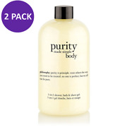 Philosophy Purity Made Simple Body 3-in-1 Shower, Bath And Shave Gel,16 Oz 2 Pack