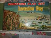 Vintage Marx Invasion D-day Wwii Ww2 Miniature Playset Boxed