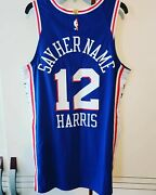 Tobias Harris Sixers 76ers Game Used Worn Social Justice Authentic Jersey