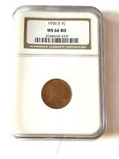 1936-s Lincoln Wheat Penny Cent Ngc Ms66rd