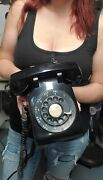 Vintage Western Electric Bell System Black Rotary Phone Telephone